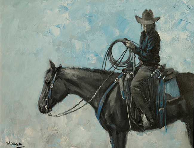 Cow Girl | Oil on Canvas | 14 x 18